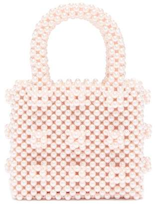 Shrimps Antonia Mini Faux Pearl Bag - Womens - Pink