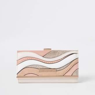 River Island Pink cutabout clip top purse