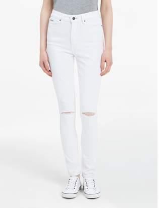 Calvin Klein high waist white leggings