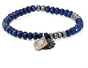 Miracle Icons Men's Vintage-Icon Beaded Bracelet - Blue
