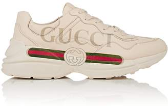 Gucci Men's Logo-Print Leather Sneakers