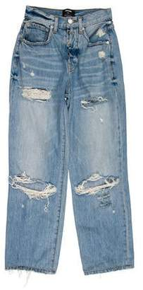 Adaptation Distressed Mid-Rise Jeans