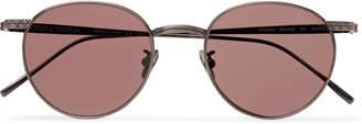 Bottega Veneta Round-Frame Titanium Sunglasses - Men - Metallic