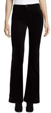 J Brand Maria High-Rise Luxe Velveteen Flare Pants