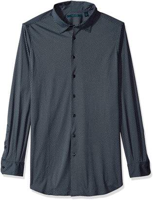 Perry Ellis Men's Big-Tall Big and Tall Diamond Print On Knit Fabric Shirt, -, Big