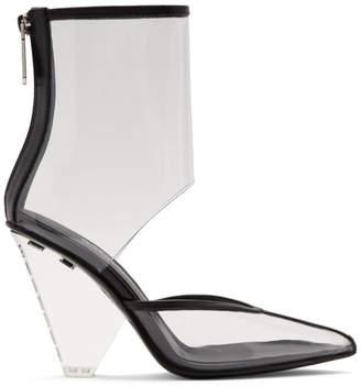 Balmain Transparent PVC Livy Ankle Boots