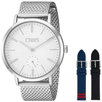 Chaps Men's Dunham Analog-Quartz Stainless-Steel Strap