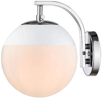 GOLDEN LIGHTING Dixon Sconce in Chrome with Opal Glass