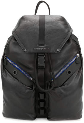 Emporio Armani multi-pocket backpack