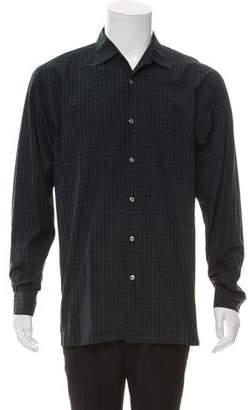 Ralph Lauren Purple Label Gingham Button-Up Shirt