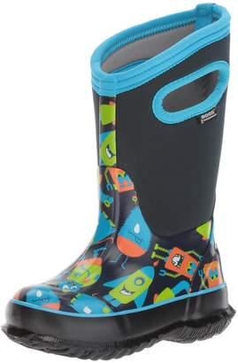 Bogs Kid's CLASSIC MONSTER Boot, Dark Blue/Multi