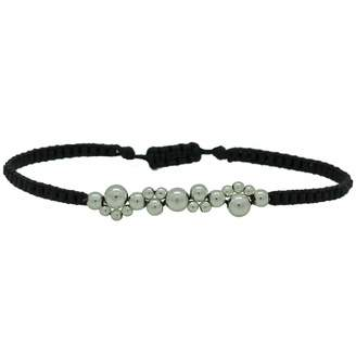 LeJu London - Silver Bubble Bracelet Black