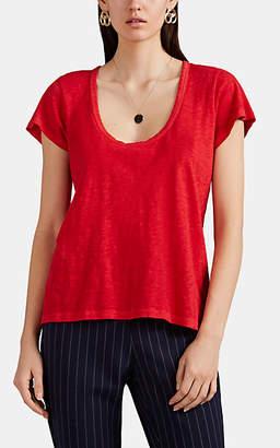 Rag & Bone Women's Slub Pima Cotton Jersey T-Shirt - Red