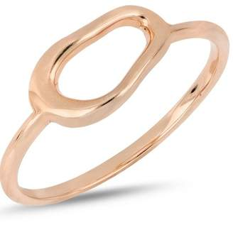 Bony Levy 14K Rose Gold Organic Open Circle Accent Ring