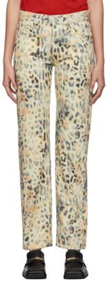 Martine Rose NAPA by Tan Leopard Jeans
