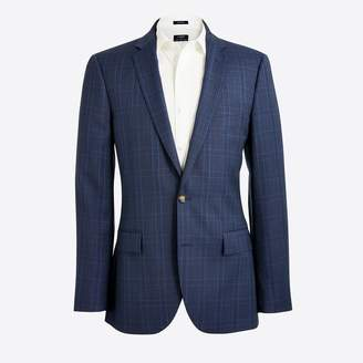 J.Crew Factory Thompson suit jacket in glen plaid worsted wool