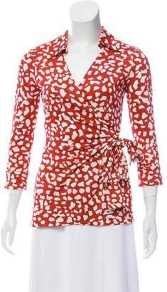 Diane von Furstenberg Jilletta Maternity Wrap Top w/ Tags