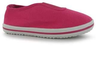 Slazenger Kids Canvas Slip On Shoes Lightweight Casual Footwear Infants