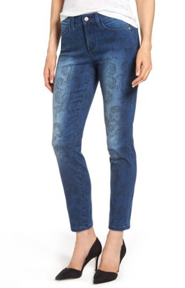 Women's Nydj Alina Print Slim Ankle Jeans $134 thestylecure.com