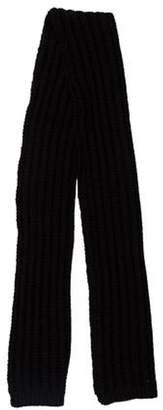 Maison Margiela Wool Crochet Scarf Black Wool Crochet Scarf