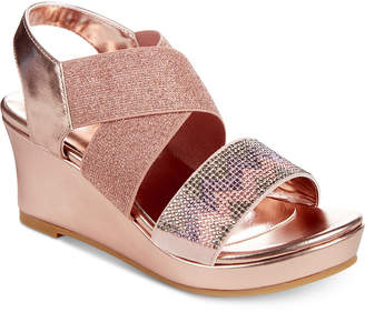 Kenneth Cole Reed Mamba Rose Wedge Sandals, Little Girls & Big Girls