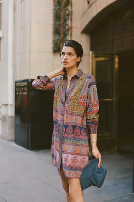 Maeve Casablanca Silk Shirtdress