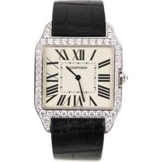 Cartier Santos Dumont white gold watch