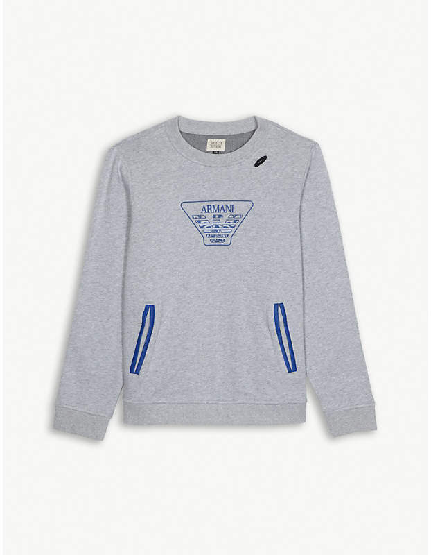Logo cotton sweatshirt 4-16 years