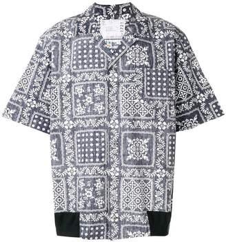 Sacai printed shirt
