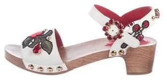 Dolce & Gabbana Floral-Embellished Sandals