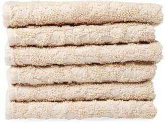 Habidecor Abyss & Graph Cotton Washcloths (Set of 6)