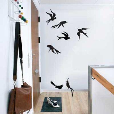 Wall Sticker Birds Black