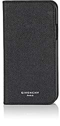 Givenchy Men's Leather iPhone® X Folding Case - Black
