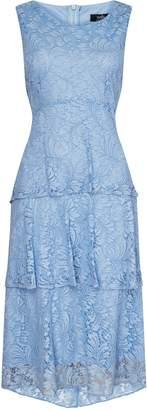 Wallis Blue Lace Tiered Dress