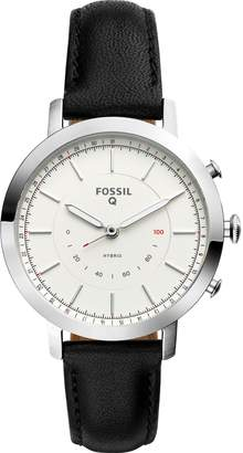 Fossil Q Neely Leather Strap Hybrid Smart Watch, 36mm