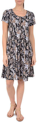 Asstd National Brand NY Collection Fit and Flare Pleated Dress - Petites
