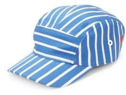 Ami Casquette Five-Panel Stripe Cap