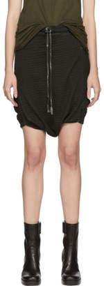 Boris Bidjan Saberi Black Resin Dyed Drop Shorts
