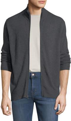 Neiman Marcus Men's Cashmere Mock-Neck Zip-Front Jacket