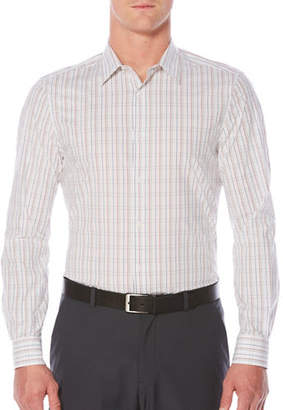 Perry Ellis Regular-Fit Plaid Shirt
