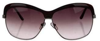 Stella McCartney Gradient Oval Sunglasses