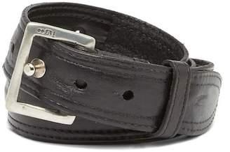 John Varvatos Collection Pull-Back Leather Prong Belt