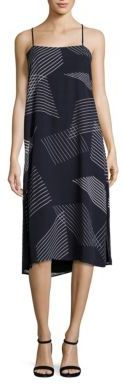 DKNY Embroidered Striped Dress