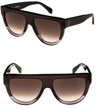 Celine Special Fit 60mm Flat Top Sunglasses