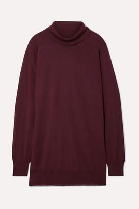 Maison Margiela Oversized Wool Turtleneck Sweater - Merlot