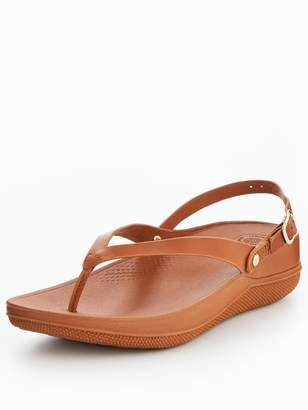 FitFlop Flip Leather Sandal - Caramel