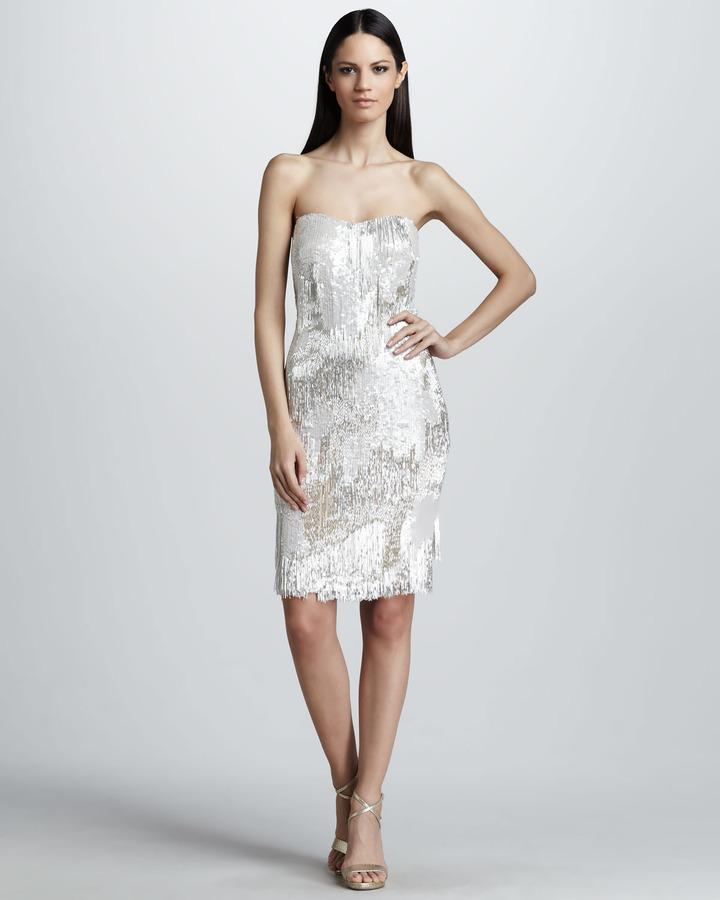 Mandalay Beaded & Sequined Fringe Dress