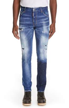 DSQUARED2 Cool Guy Paint Splatter Skinny Jeans