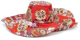 Etro Paisley Print Cotton Hat - Womens - Pink