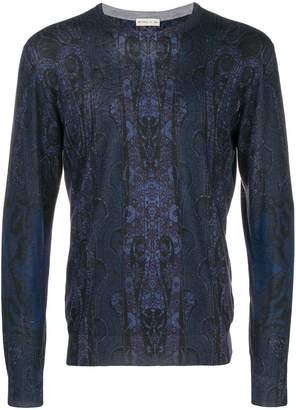 Etro tapestry print sweater